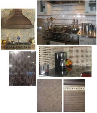 stone mosaic backsplash tile
