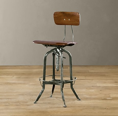 Spotted Industrial Chic Barstools By Kimberly Reuther
