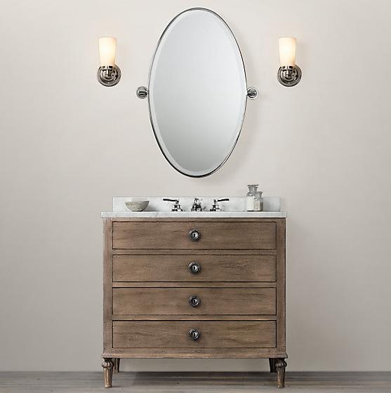 Bathroom Vanity Lights Restoration Hardware selecting a bathroom vanity | designspeak
